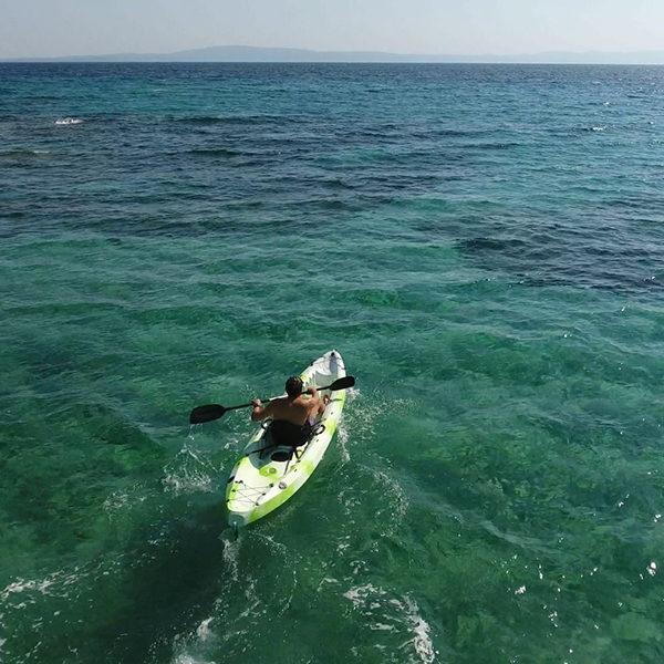 Single Kayak Rental by the hour - EXPLORERS Tours Halkidiki